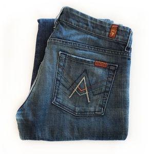 """7FAMK """"A"""" Pocket Stretch Jeans"""